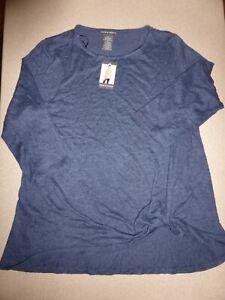 NWT-Womens-Anthropology-Chelsea-amp-Theodore-Tunic-Top-Shirt-Blue-58-Blouse-sz-XL