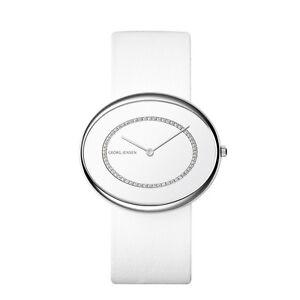 Details About Georg Jensen Las Watch 322 Vivianna Oval With 0 27 Ct Diamonds Vs