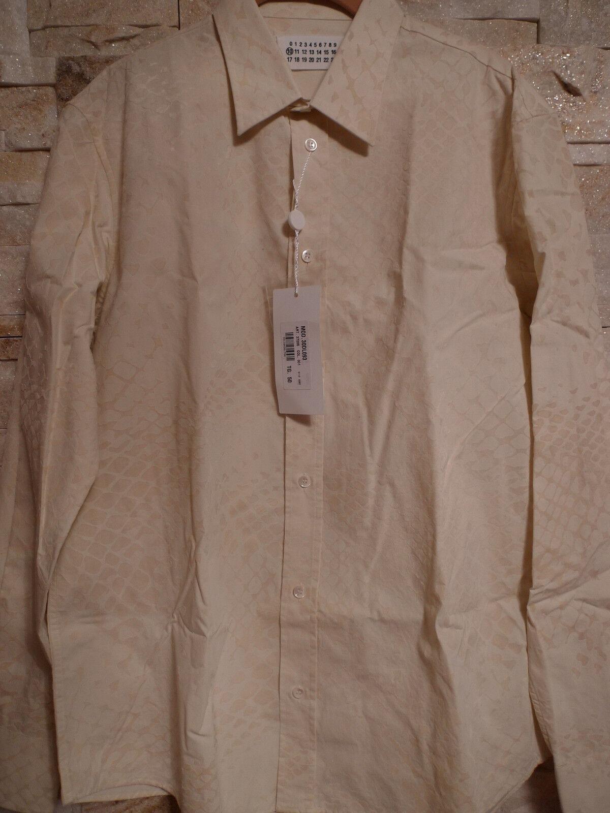 670. MAISON MARTIN MARGIELA CREAM Farbe hemd ITALY Größe 50 M