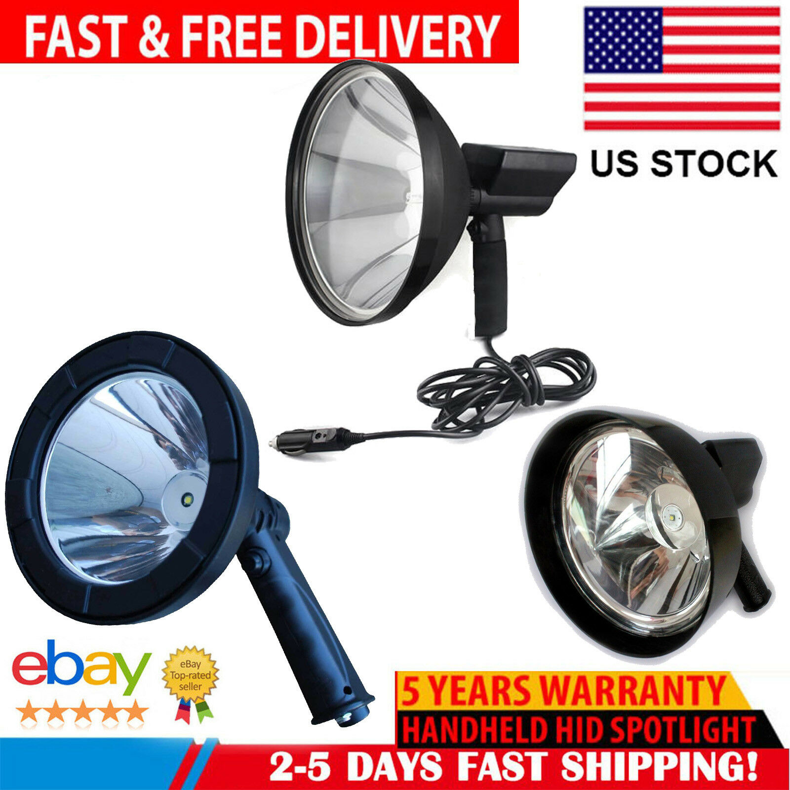 12 V Hunting Spot Lights Hand Held Handheld Deer Shining Rechargeable Spotlight