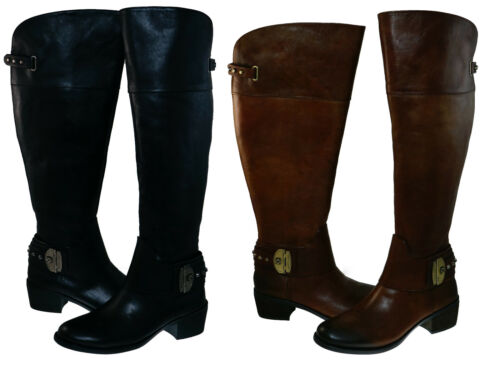 Vince Camuto Womens Beatrix Pull On Tall Over The Knee Equestrian Riding Boots