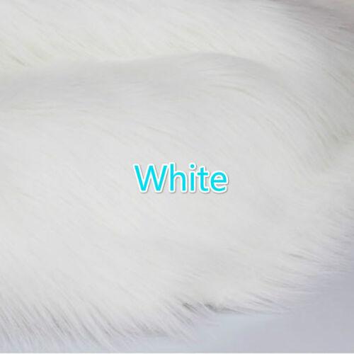 Lujo pelo largo Faux fur fabric Pila de la felpa esponjosa Pantalla Paño De Decoración Hazlo tú mismo Nuevo