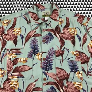 Reyn-Spooner-Floral-Hawaiian-Button-Shirt-Mens-M-Med-MICRO-RAYON-Super-Soft-EXC