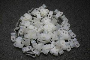 100 PACK 3//16 INCH CABLE CLAMPS NYLON NATURAL HOSE WIRE ELECTRICAL NEW NCC316