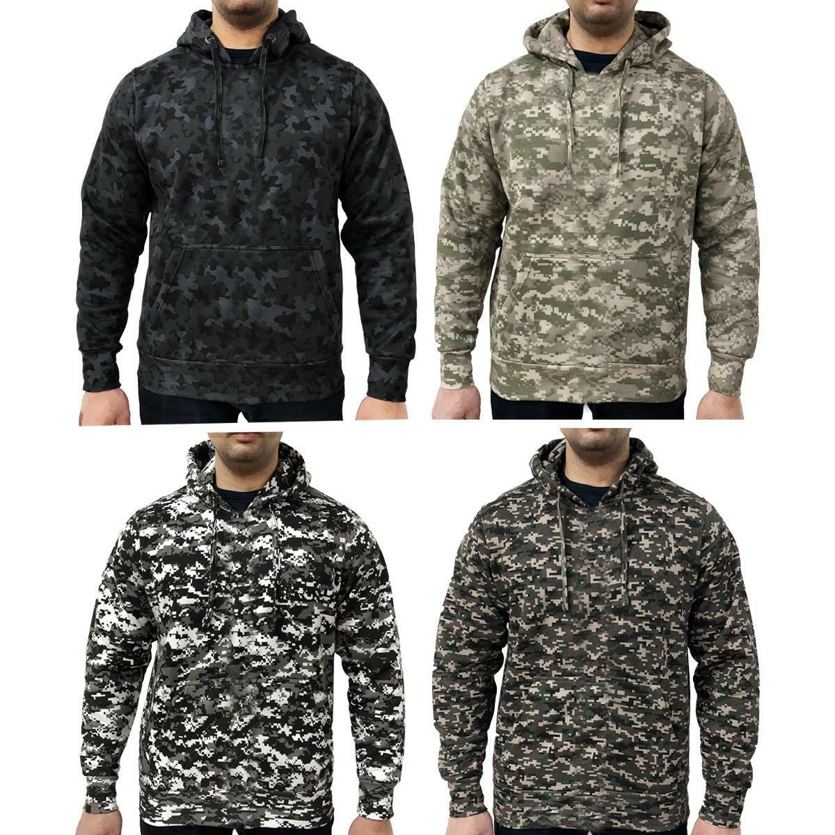 64dbb47d697 Game Mens Military Camo Digital Camouflage Hooded Top Hoodie ...