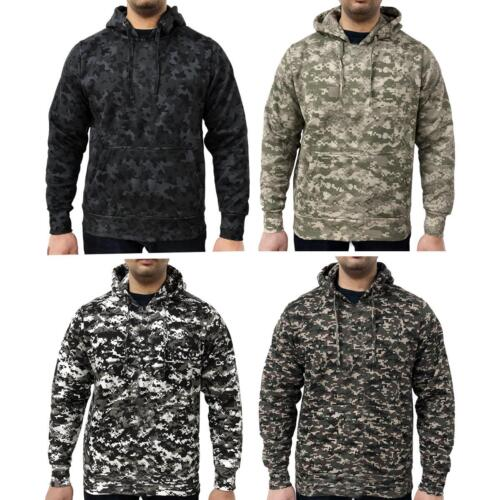 Game Mens Military Camo Hoodie Digital Camouflage Hooded Top