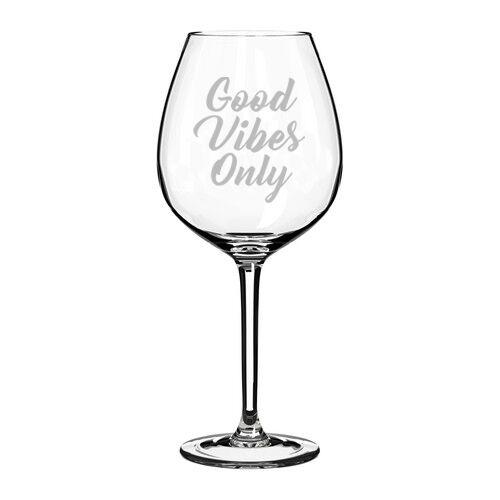 20oz Stemmed 17oz Stemless Good Vibes Only Wine Glass 10oz