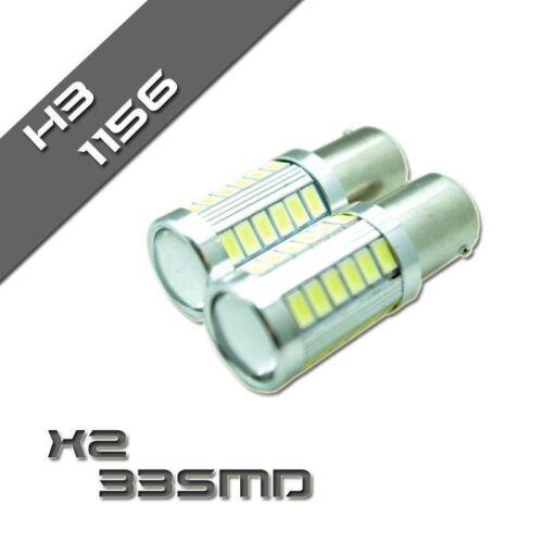 x2 33 SMD 1156 BA15S 382 P21W DRL Car Reverse Turn Signal Light Bulb Daytime
