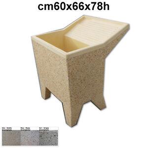Lavatoio da esterno lavatoio in cemento con piedini cm60x66x78h granigliato ebay - Lavatoio in pietra da esterno ...