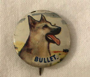Vintage 1953 Bullet Roy Rogers Dog Advertising Pinback Button Post Grape Nuts