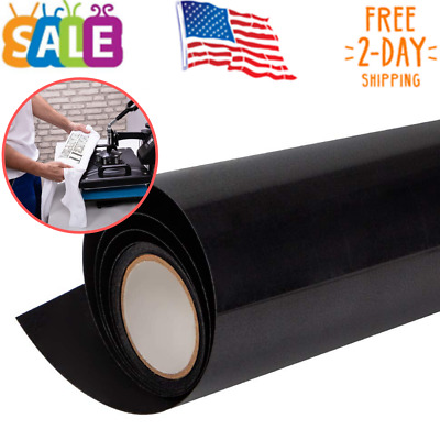 Heat Transfer Vinyl HTV for T-Shirts 12 Inches by 15Feet Rolls Black