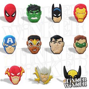 MARVEL-DC-SUPERHELDEN-Schuh-Pins-Crocs-Batman-Spider-Man-Clogs-Disney-jibbitz