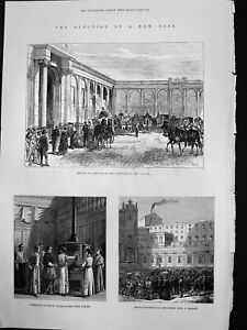 Old-Print-Election-New-Pope-Cardinals-Vatican-Fireplac-Smoke-Chimney-1878-19th