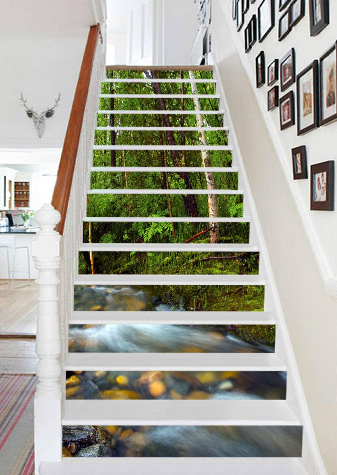 3D Baum Strom 235 Stair Risers Dekoration Fototapete Vinyl Aufkleber Tapete DE