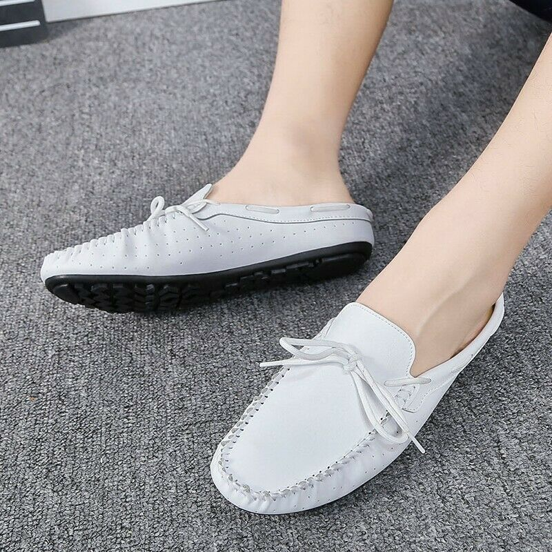 2019 Men's Vugue Driving shoes Outdoor Slip On Loafers Bowknot Lightweight Solid