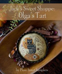 Jack's Sweet Shoppe Olga's Tart Plum Street Samplers Cross Stitch Pattern