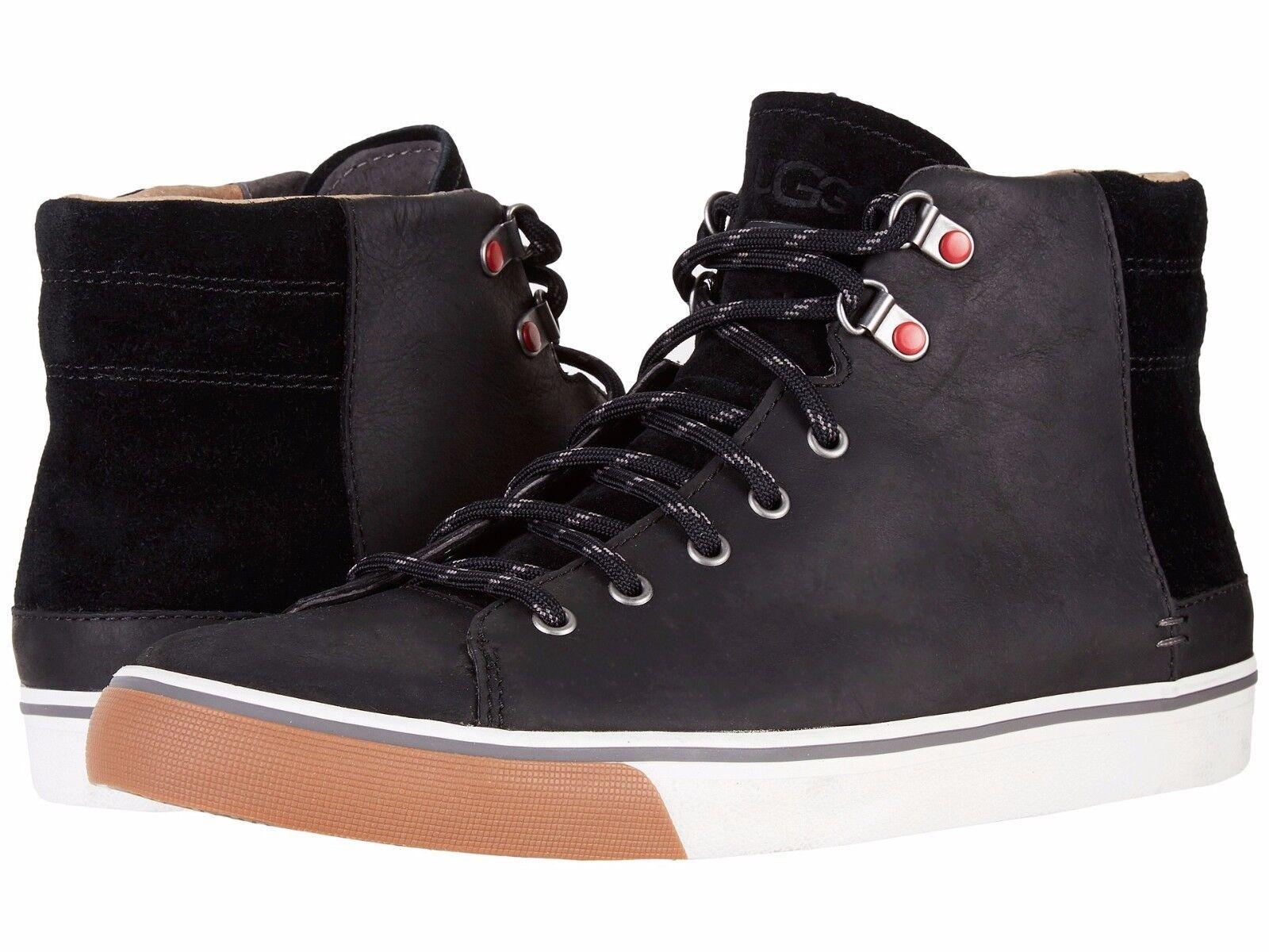 UGG pour hommes Hoyt en cuir imperméable, chaussures de mode décontractées en daim, noir