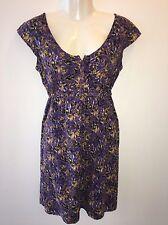 Eddie Bauer Dress Size 8 Petite Empire Waist Cap Sleeve