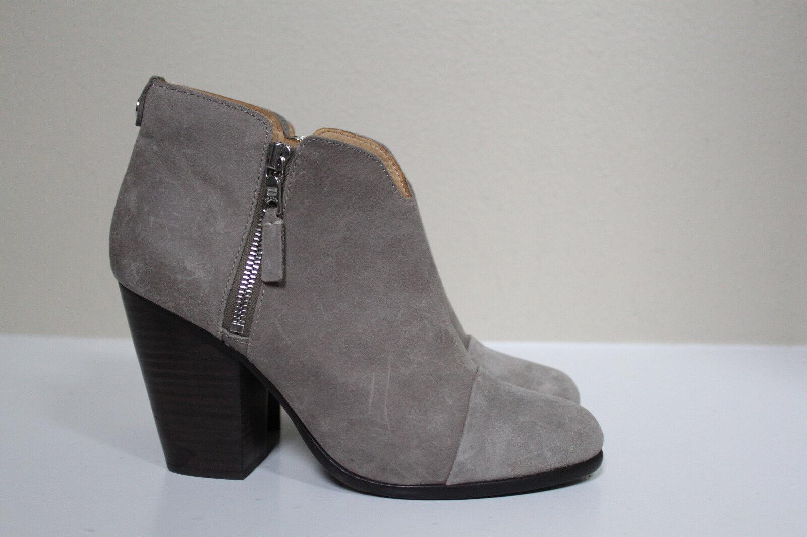 sz 8.5 / 38.5 Rag & Bone Margot Warm Gray Ankle Side Zip Bootie Heel Shoes