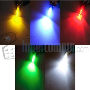 BOMBILLA-LED-COCHE-T-5-12V-Blanca-Azul-Amarilla-Roja-Verde-Rosa