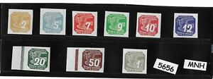 #5656     Full MNH 1943 WWII stamp set / Newspaper Third Reich German Occupation