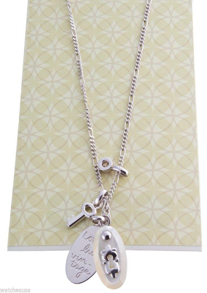 Fossil 925 silver Halskette Anhänger NEU OVP