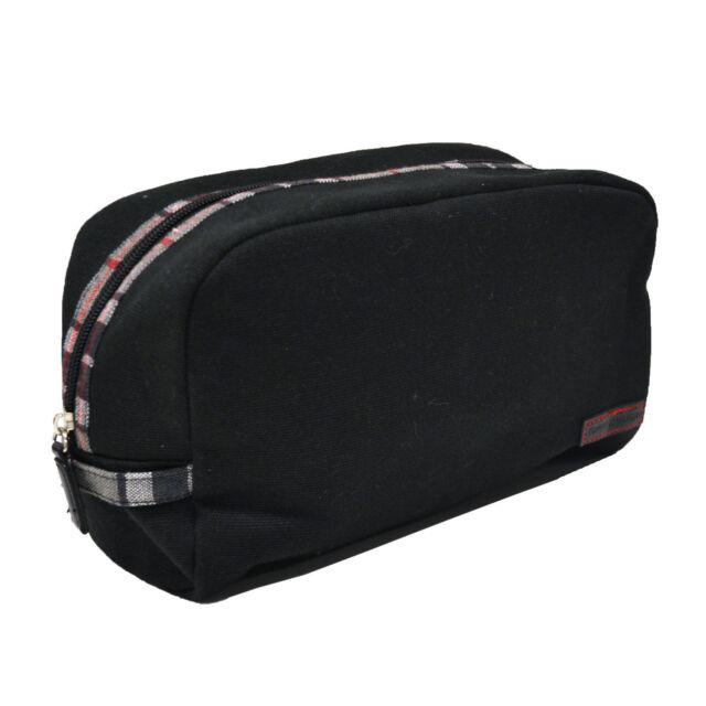 54505bbf967 Tommy Hilfiger Canvas Travel Toiletry Kit Bag Unisex Black   eBay