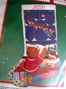 Dimensions Christmas Holiday Longstitch Stocking Kit,GOOD NIGHT SANTA,9055,16""