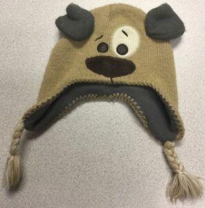 f9ae10af3d7840 Kola Kids Knit Fleece Hat Tan Puppy Dog Winter Hat 18-24 Months | eBay