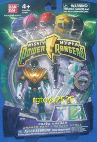 "Mighty Morphin Power Rangers 4/"" Green New 4/"" Variant Light up Flyer TRANSPARENT"