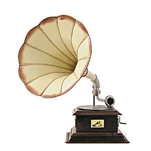 Gramophone-Monarch-Company-Metal-Model-V-15-5-034-Decorative-Phonograph-Home-Decor