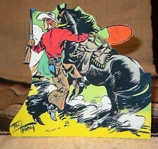 "Red Ryder Western Cowboy Color Comic Tabletop Display Standee 7.5"" Tall"