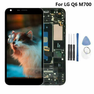 For-LG-Q6-M700-M700N-M700A-LCD-Display-Touch-Screen-Assembly-Replacement-Frame