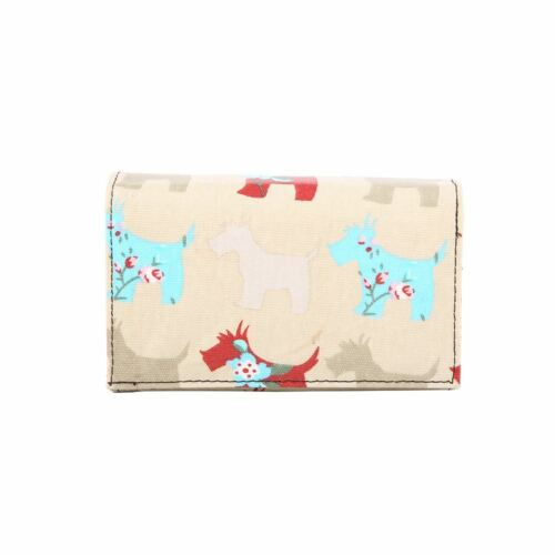 Ladies Big PU Leather Dog Print Coin Card Wallet Purse Clutch Bag