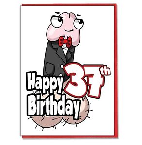 Image Is Loading Funny Willy 37th Birthday Card Ladies Friend BFF