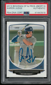 AARON-JUDGE-AUTO-2013-Bowman-Draft-Picks-BDPP19-PSA-DNA-Certified-Rookie-Card-RC