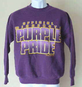 vintage-034-OFFICIAL-MINNESOTA-Purple-Pride-034-sweatshirt-Vikings-Mens-M-retro-90s-98
