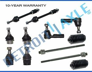 12pc-Front-Upper-Lower-Ball-Joint-Tie-Rod-Sway-Bar-Link-Dodge-Ram-1500-5-Lug-4x4
