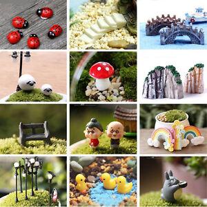 Miniature-Dollhouse-FAIRY-GARDEN-Accessories-DIY-Plant-Pots-Resin-Craft-Decor