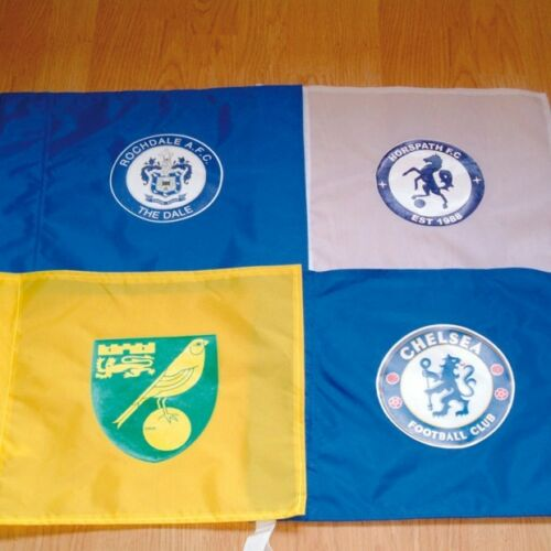Single printed also available. 2 colour Coloured Corner Flag