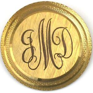 VINTAGE-14K-GOLD-FILLED-BROOCH-ETCHED-MONOGRAM-JMD-WELLS-ESTATE-JEWELRY-7-grams