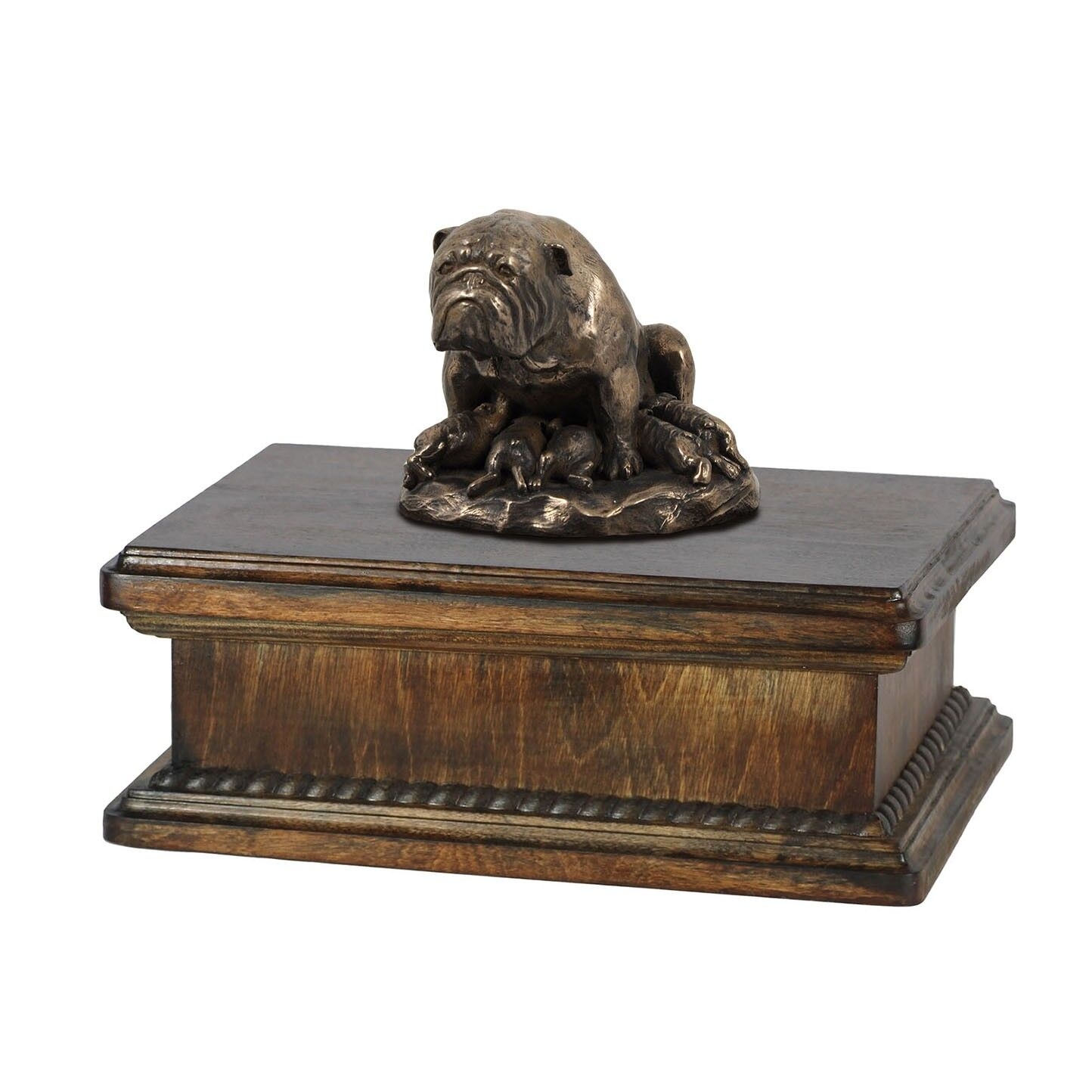 Bulldog type 2 - exclusive urn with dog statue, High Quality, Art Dog