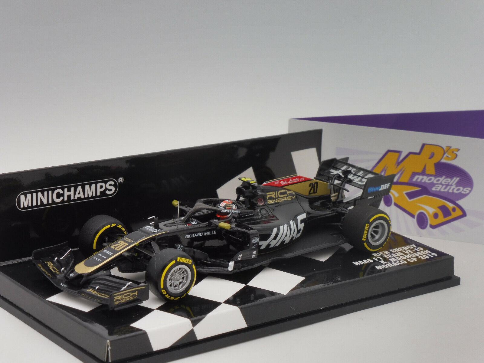 Minichamps 417190620   Rich Energy Haas Haas F1 Monaco GP 2019   K. Magnussen   1 43