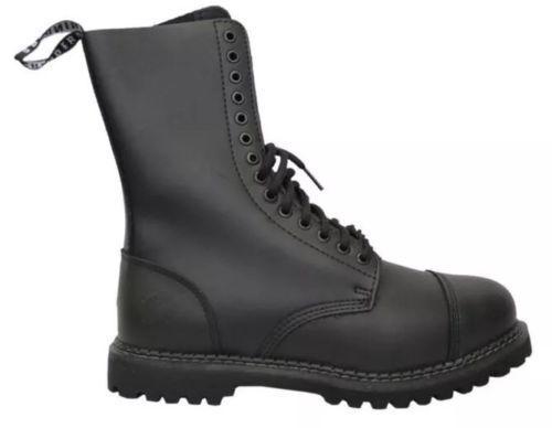 GRINDERS Herald High Ranger Black 14 Hole Men's Ladies Safety Steel Toe Boots