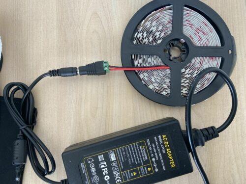 LED Stripe Kaltwei Band Leiste Streifen SMD5050 Netzteil IP65 Wasserdicht 5M