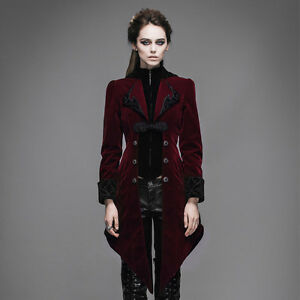 cbf12f90e New Women Jacket Long Coat Red Velvet Gothic Steampunk Baratheon ...