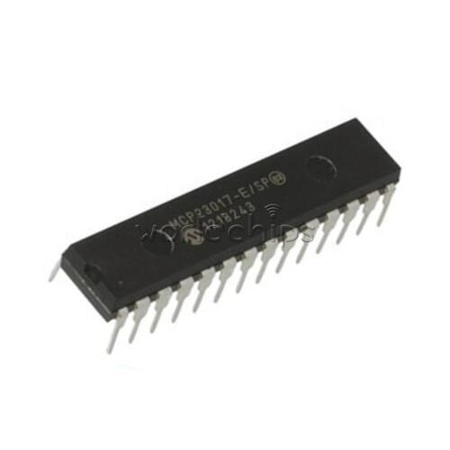 10PCS MCP23017 MCP23017-E//SP DIP-28 16-Bit I//O Expander with I2C Interface IC