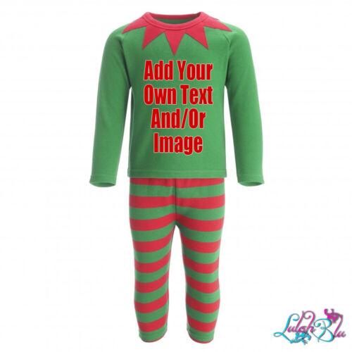 Baby//Kids Personalised Elf Christmas PyjamasElf PjsXmas PJsFestive