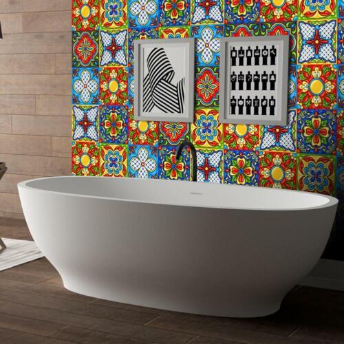20 Pcs Mexican Peel /& Stick Self Adhesive Tile Stickers Kitchen Backsplash Decor