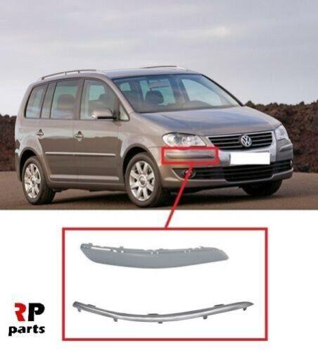 Für VW Touran 2007-2010 Neu Vorne Stoßstange Blenden Richtige O//S Chrom Leiste